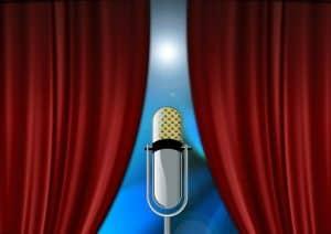 במה ומיקרופון