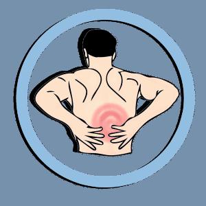 גבר עם כאב גב